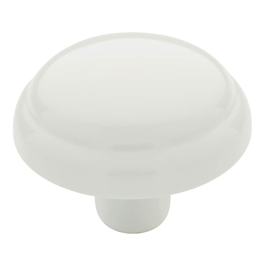 Brainerd White Round Cabinet Knob