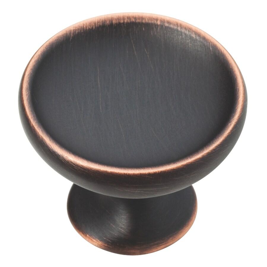 Brainerd Bronze with Copper Highlights Round Cabinet Knob