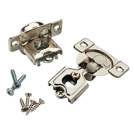 Brainerd 2-Pack 1/2-in Nickel Plated Soft Close Concealed Cabinet Hinge