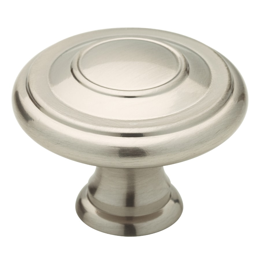 kitchen cabinet knobs at lowes shop brainerd jackson collection satin nickel 19025