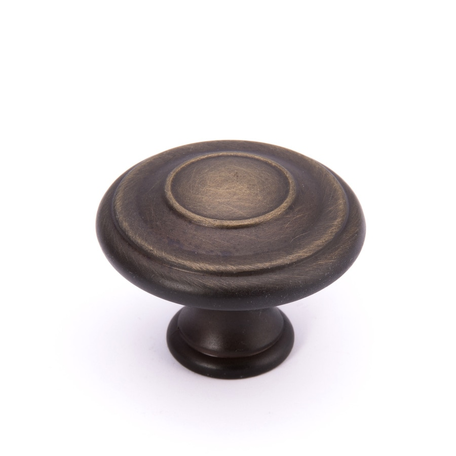 Brainerd Bronze with Gold Highlights Round Cabinet Knob