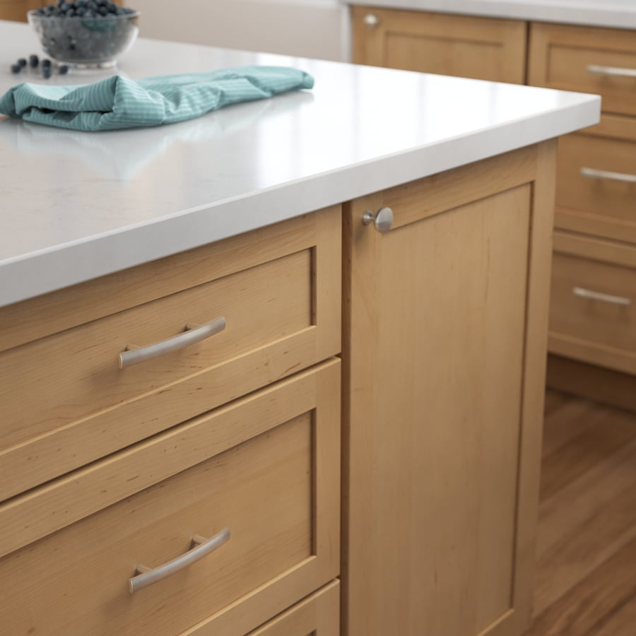 Shop brainerd 3 in center to center satin nickel bar for 3 kitchen cabinet handles