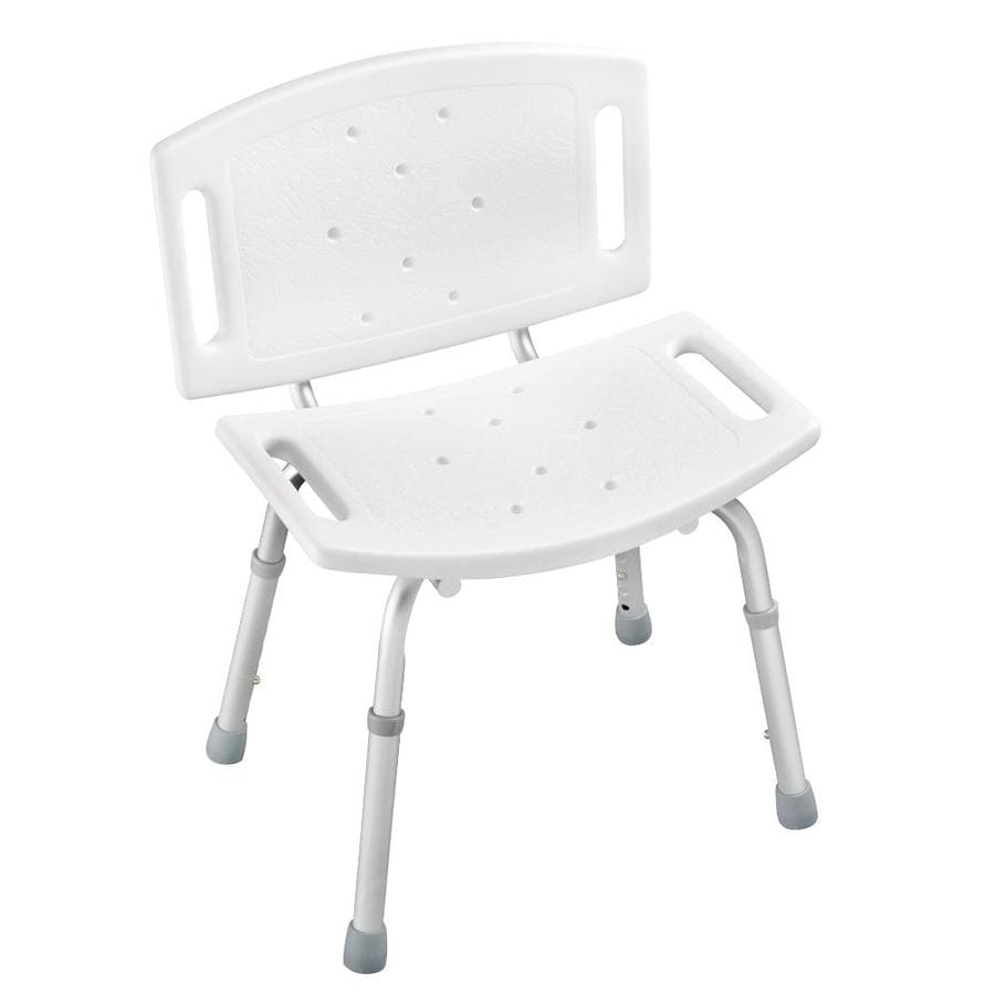 Shop Delta White Plastic Freestanding Shower Chair At
