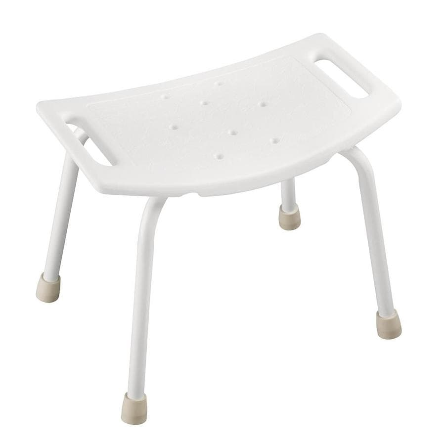 Shop Delta White Plastic Freestanding Shower Seat at Lowes.com