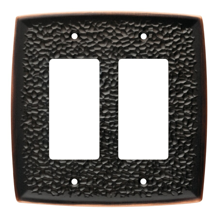 Brainerd 2-Gang Bronze with Copper Highlights Decorator Wall Plate
