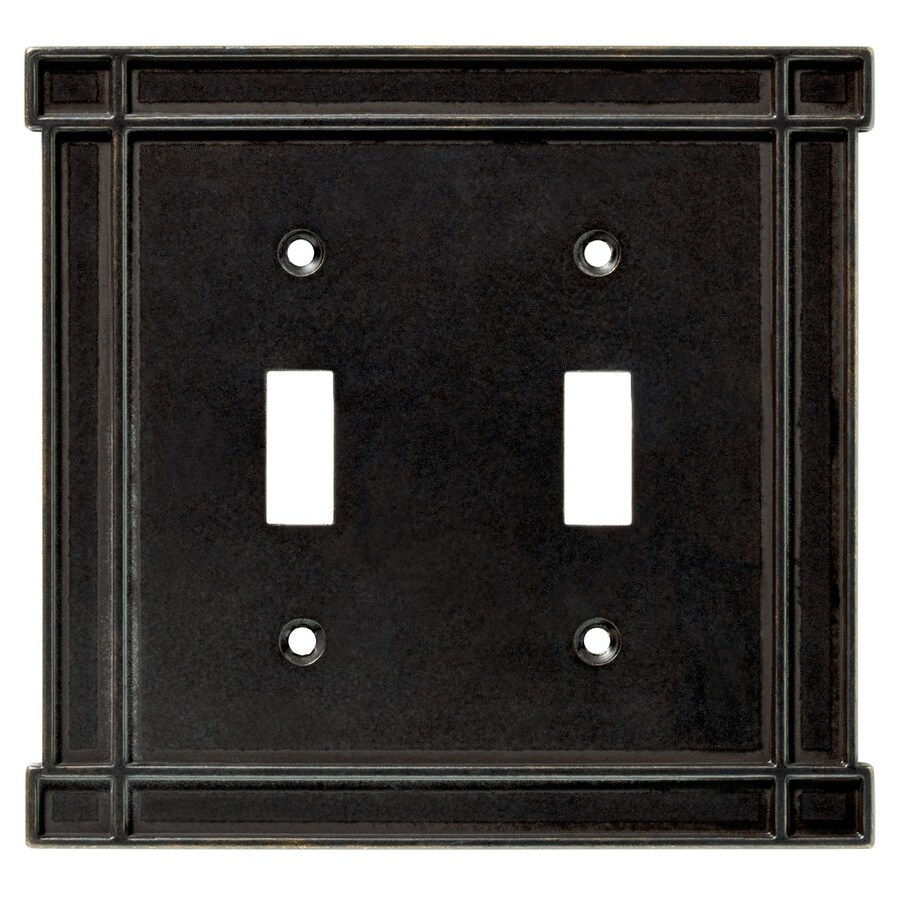 Brainerd 2-Gang Soft Iron Toggle Wall Plate