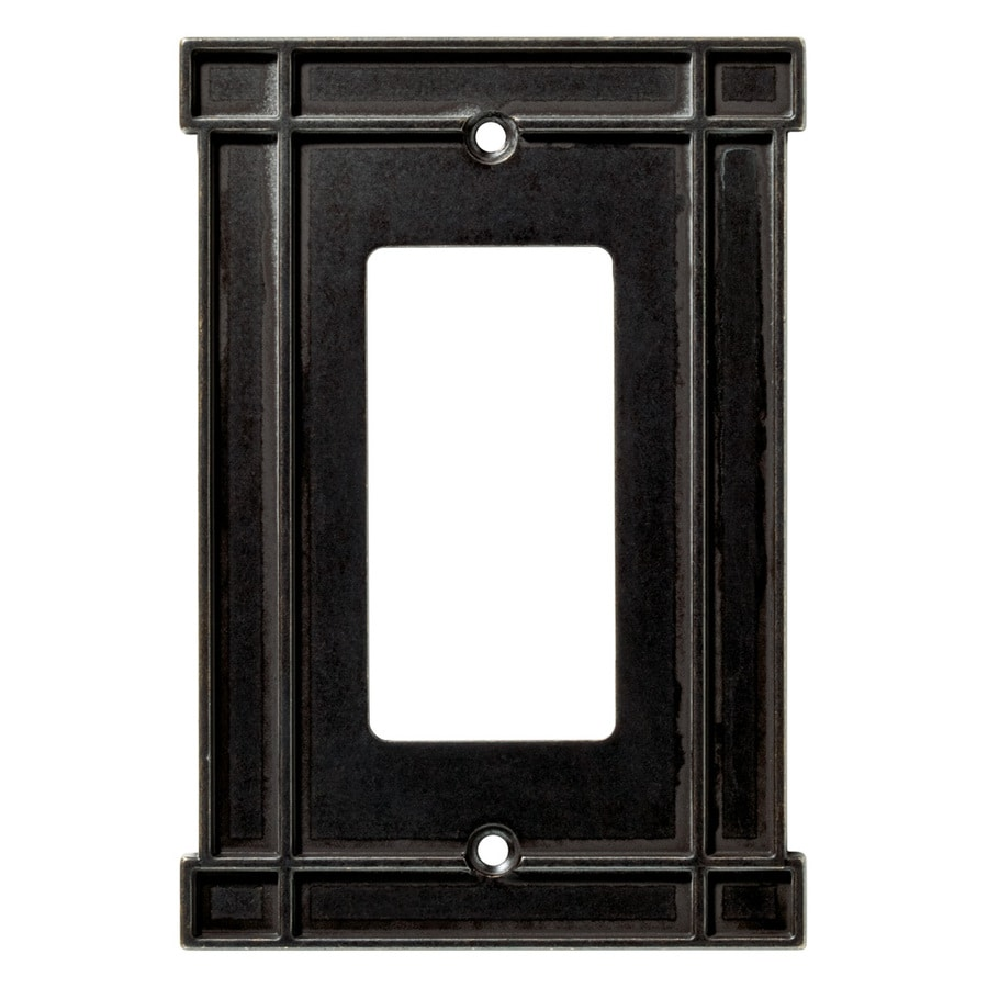 Brainerd 1-Gang Soft Iron Decorator Wall Plate
