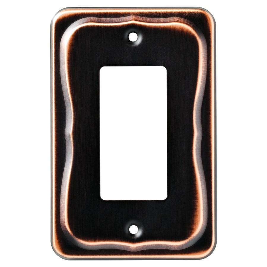 Brainerd Tenley 1-Gang Bronze with Copper Highlights Single Decorator Wall Plate