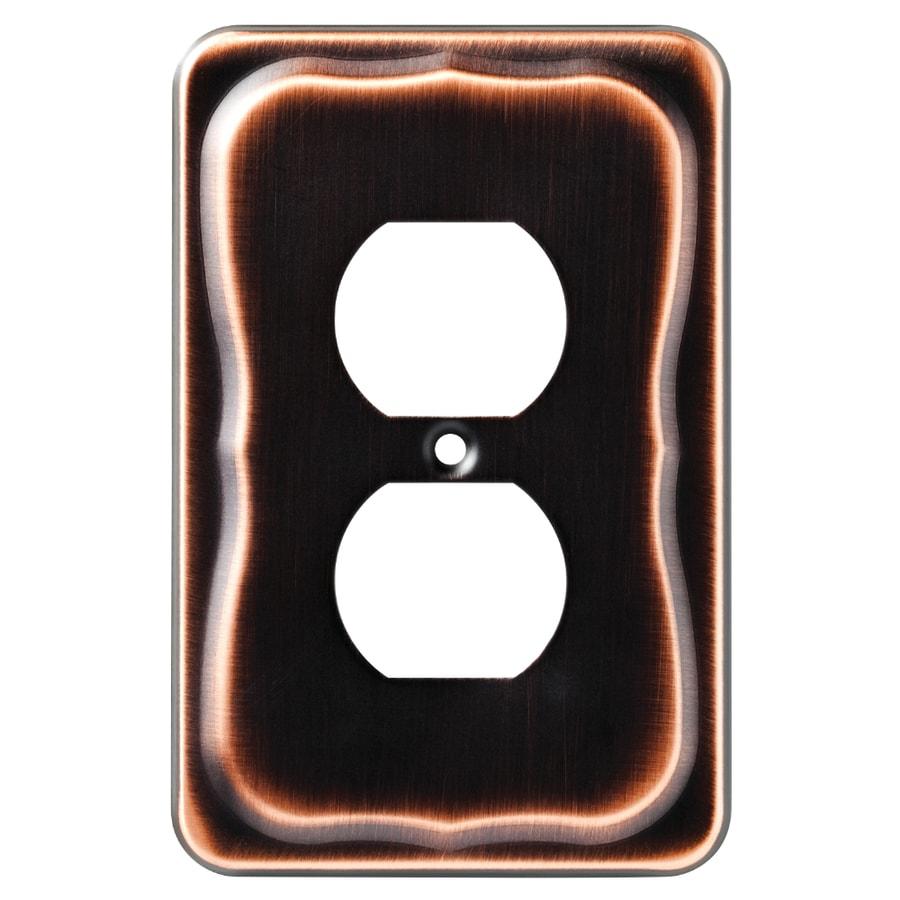 Brainerd Tenley 1-Gang Bronze with Copper Highlights Single Duplex Wall Plate