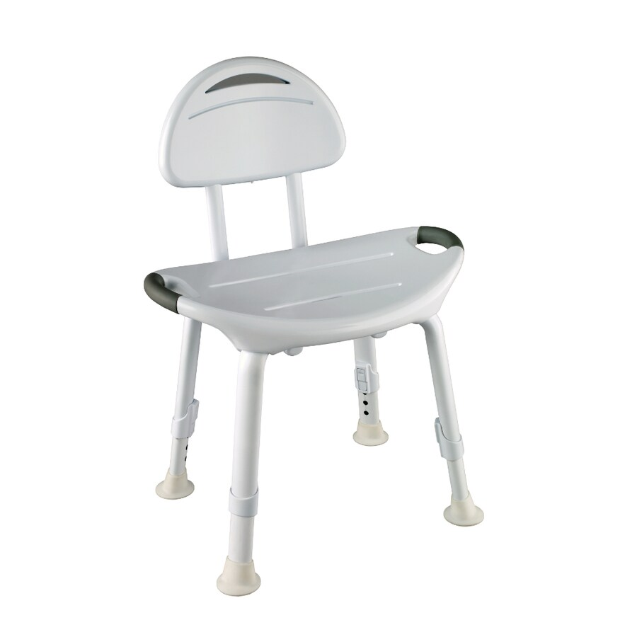 Shop Delta White Plastic Freestanding Shower Chair at Lowes.com