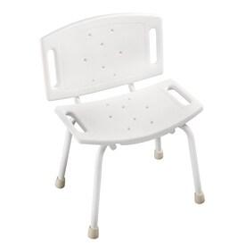 delta white plastic shower chair