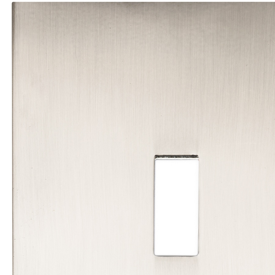 allen + roth Linden 2-Gang Satin Nickel Standard Toggle Metal Wall Plate