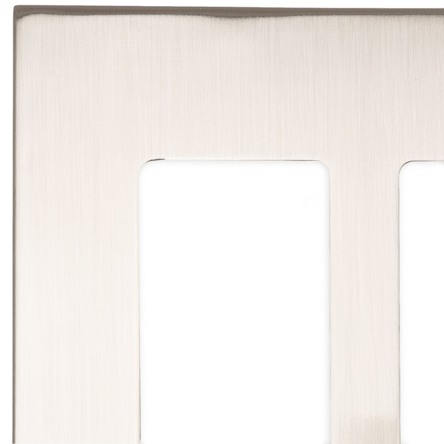 allen + roth Linden 2-Gang Satin Nickel Toggle Wall Plate