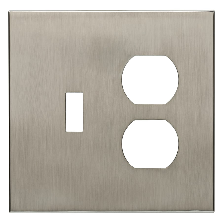 allen + roth Linden 2-Gang Satin Nickel Wall Plate