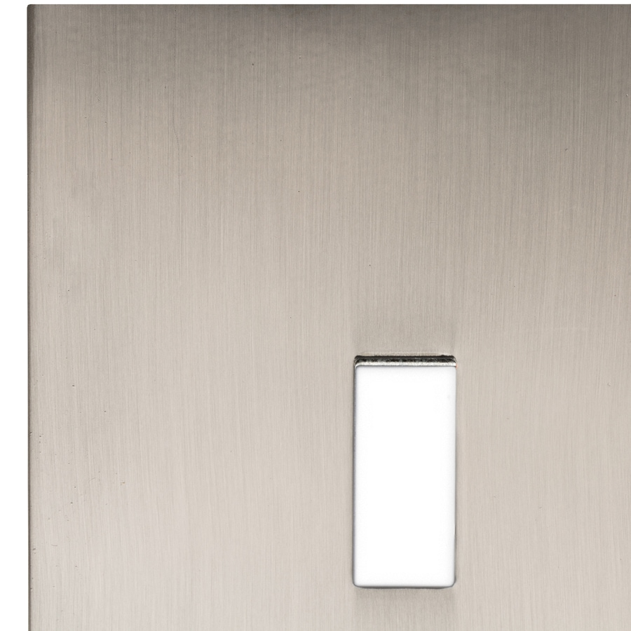 allen + roth Linden 3-Gang Satin Nickel Toggle Wall Plate