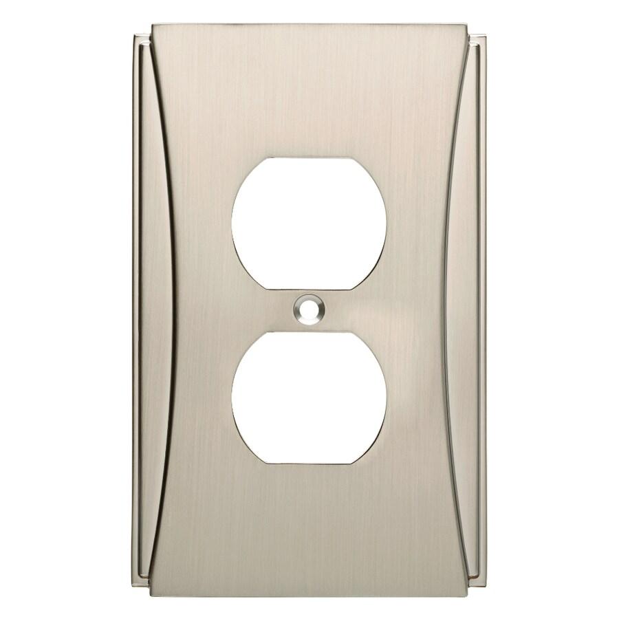 Brainerd Upton 1-Gang Satin Nickel Single Duplex Wall Plate