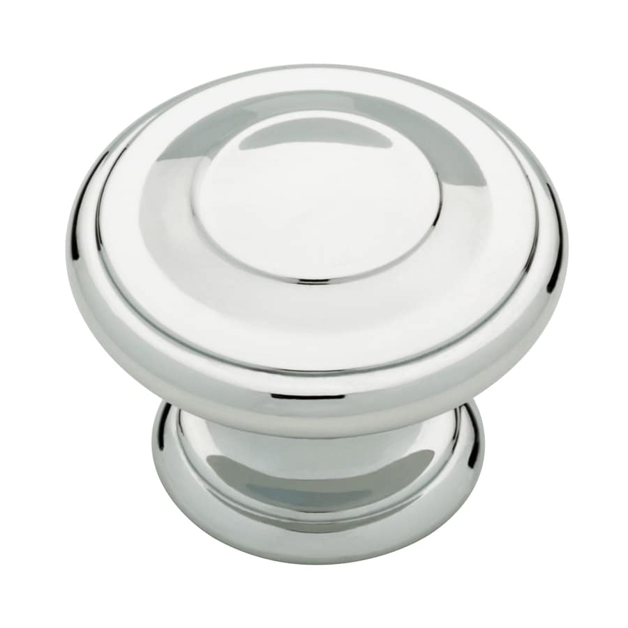 Motiv Geometric Polished Chrome Round Cabinet Knob