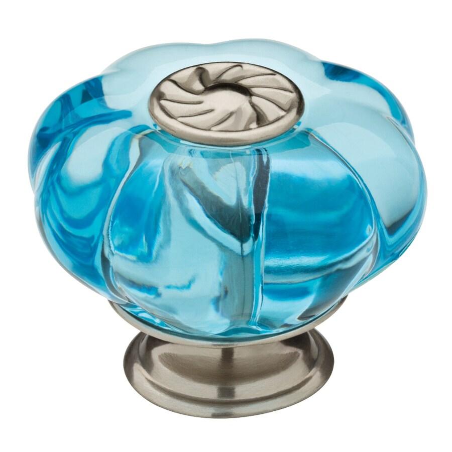 brainerd fashion acrylics blue with nickel base round cabinet knob rh lowes com Garage Cabinet Knobs for Cabinets Lowe's Hardware Cabinet Knobs