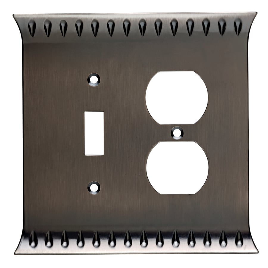 Brainerd Wadsworth 2-Gang Heirloom Silver Single Toggle/Duplex Wall Plate