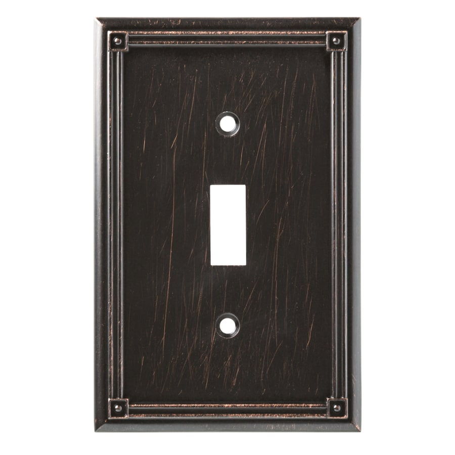 Brainerd Ruston 1-Gang Venetian Bronze Single Toggle Wall Plate
