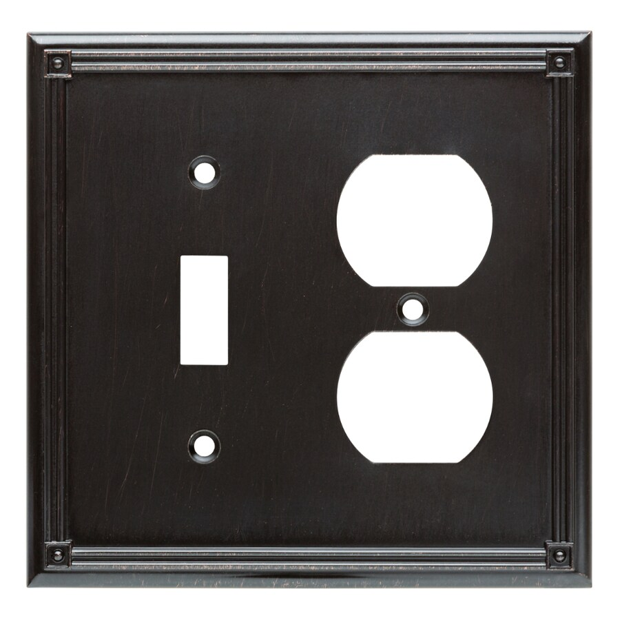 Brainerd Ruston 2-Gang Venetian Bronze Single Toggle/Duplex Wall Plate