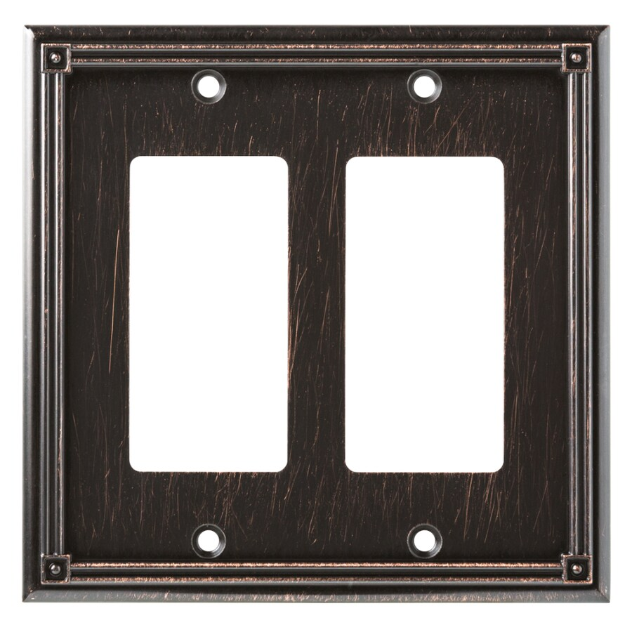 Brainerd Ruston 2-Gang Venetian Bronze Double Decorator Wall Plate