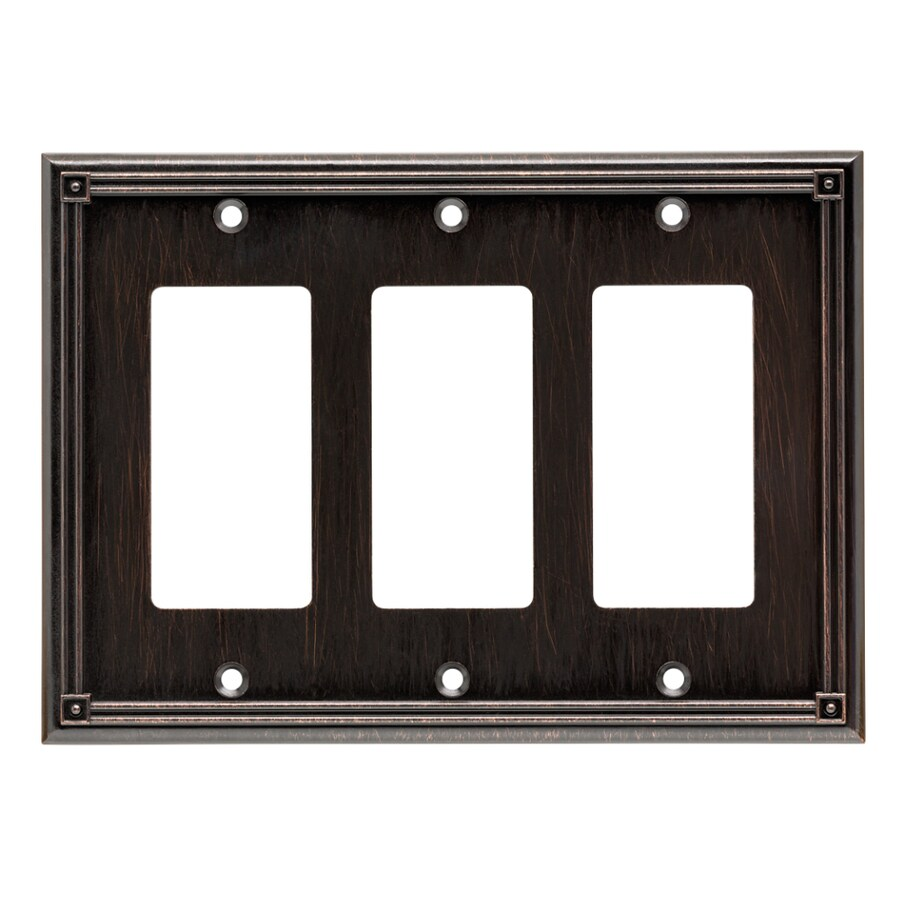 Brainerd Ruston 3-Gang Venetian Bronze Triple Decorator Wall Plate