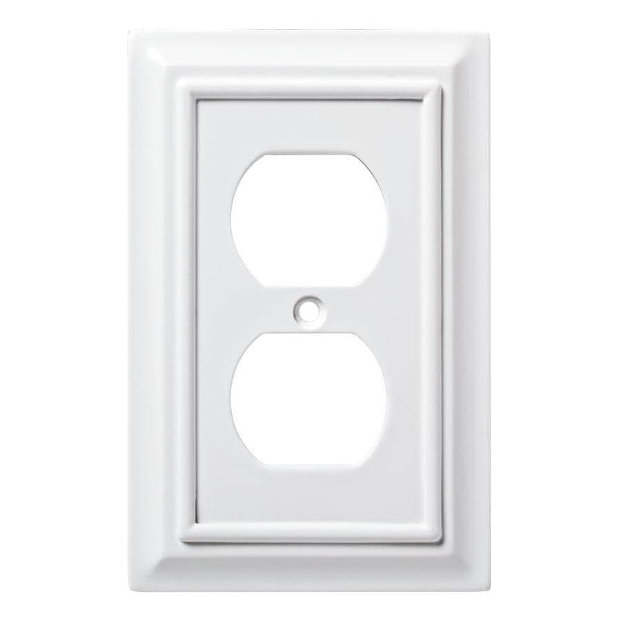 Brainerd Architectural 1-Gang Pure White Single Duplex Wall Plate