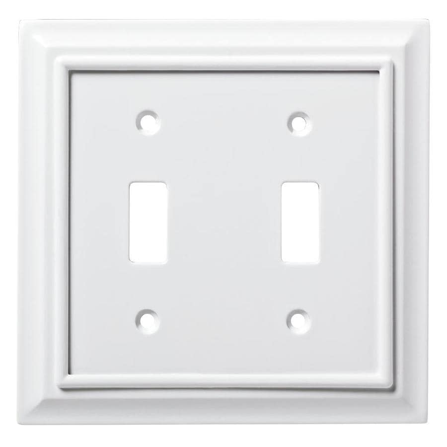 Decorative Light Switch Wall Plates Impressive Shop Brainerd Architectural 2Gang Pure White Double Toggle Wall 2018