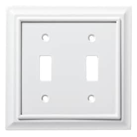 Brainerd Architectural 2 Gang Pure White Double Toggle Wall Plate