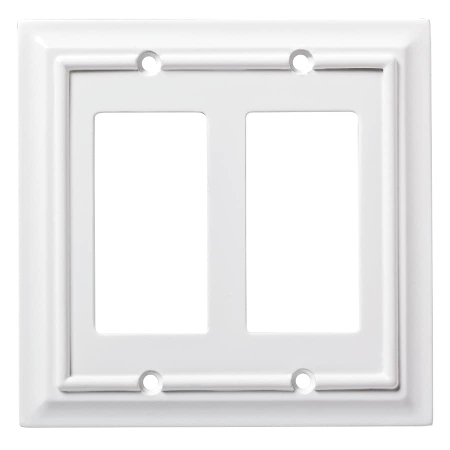 Electrical Wall Plates : Gang double duplex decorator toggle wall plate