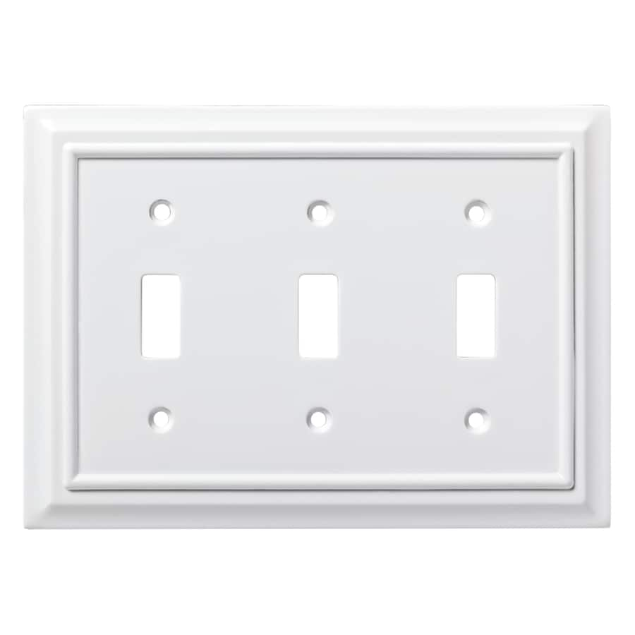 Brainerd Architectural 3-Gang Pure White Triple Toggle Wall Plate
