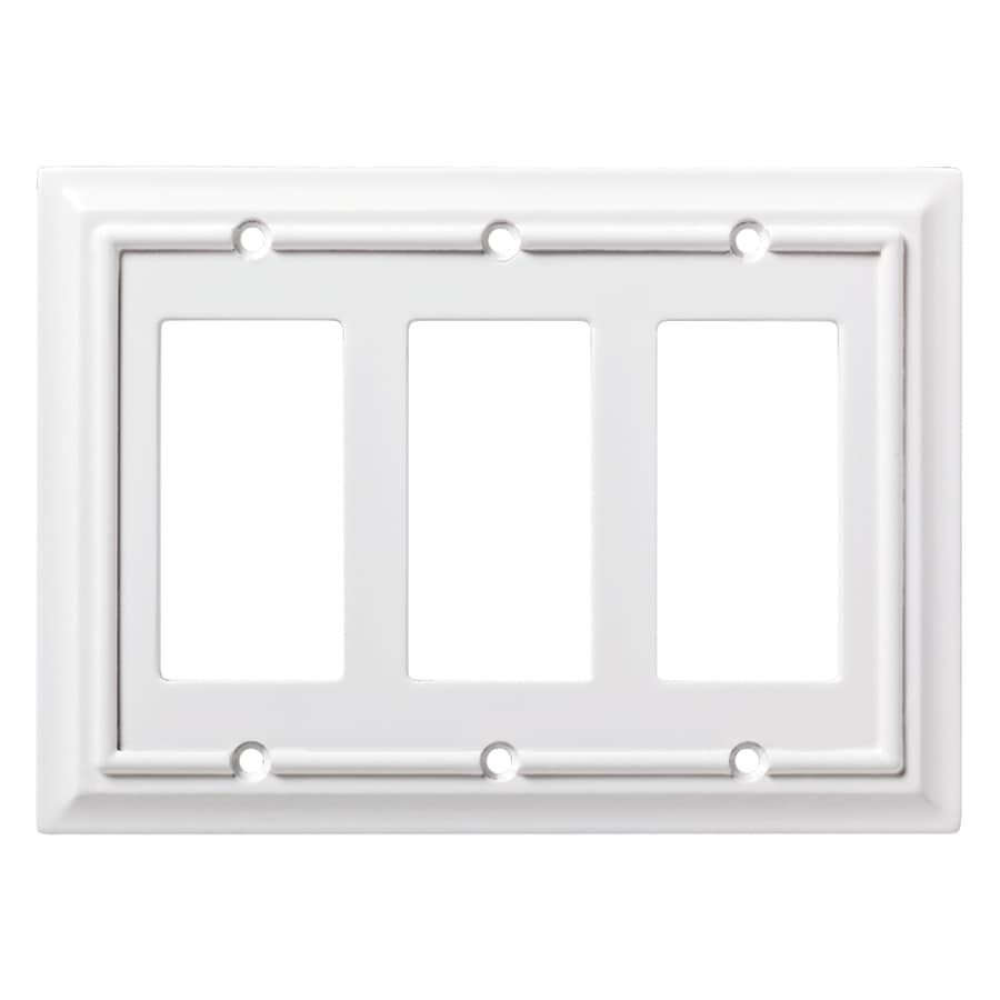 Brainerd Architectural 3-Gang Pure White Triple Blank/Toggle Wall Plate