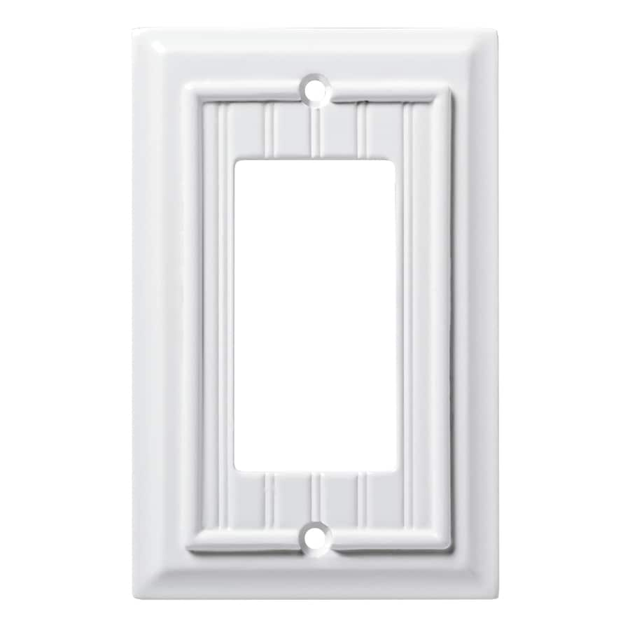 Brainerd Beadboard 1-Gang Pure White Single Decorator Wall Plate