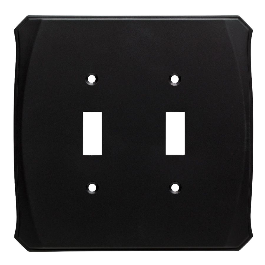 Brainerd Serene 2-Gang Flat Black Double Toggle Wall Plate