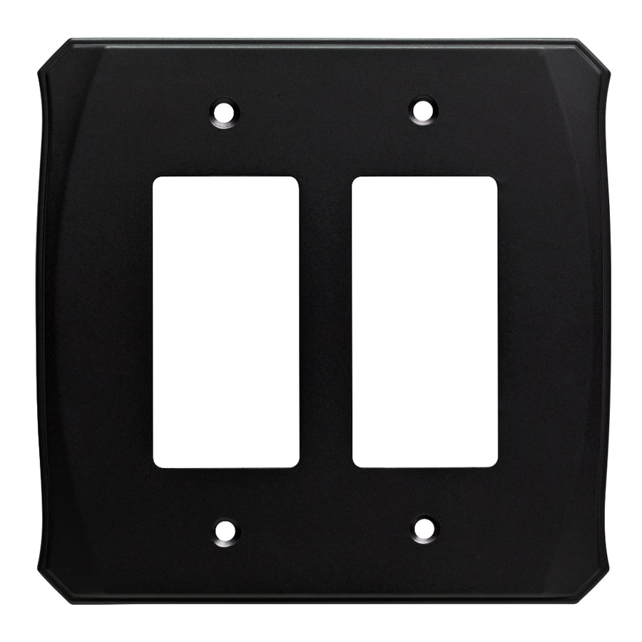 Brainerd Serene 2-Gang Flat Black Double Decorator Wall Plate