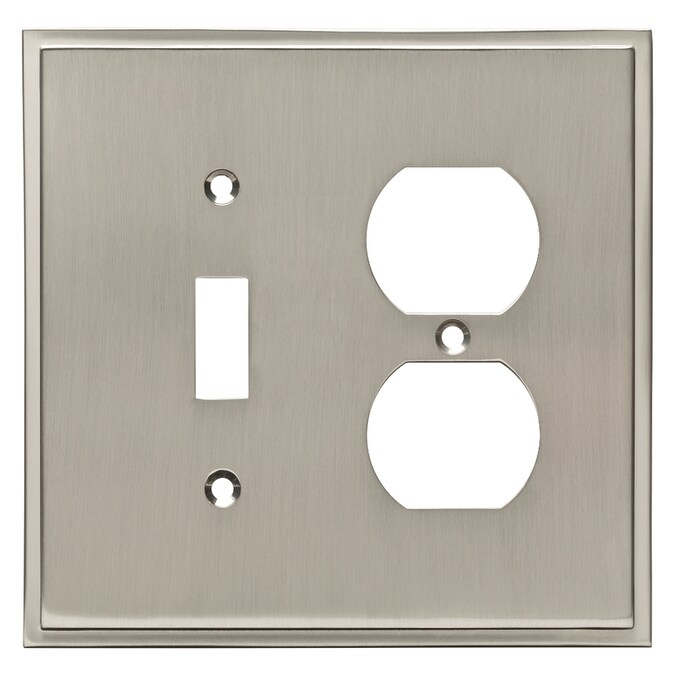 BRAINERD W36316-SN Windmere Satin Nickel Single Duplex Switch Wall Plate Cover