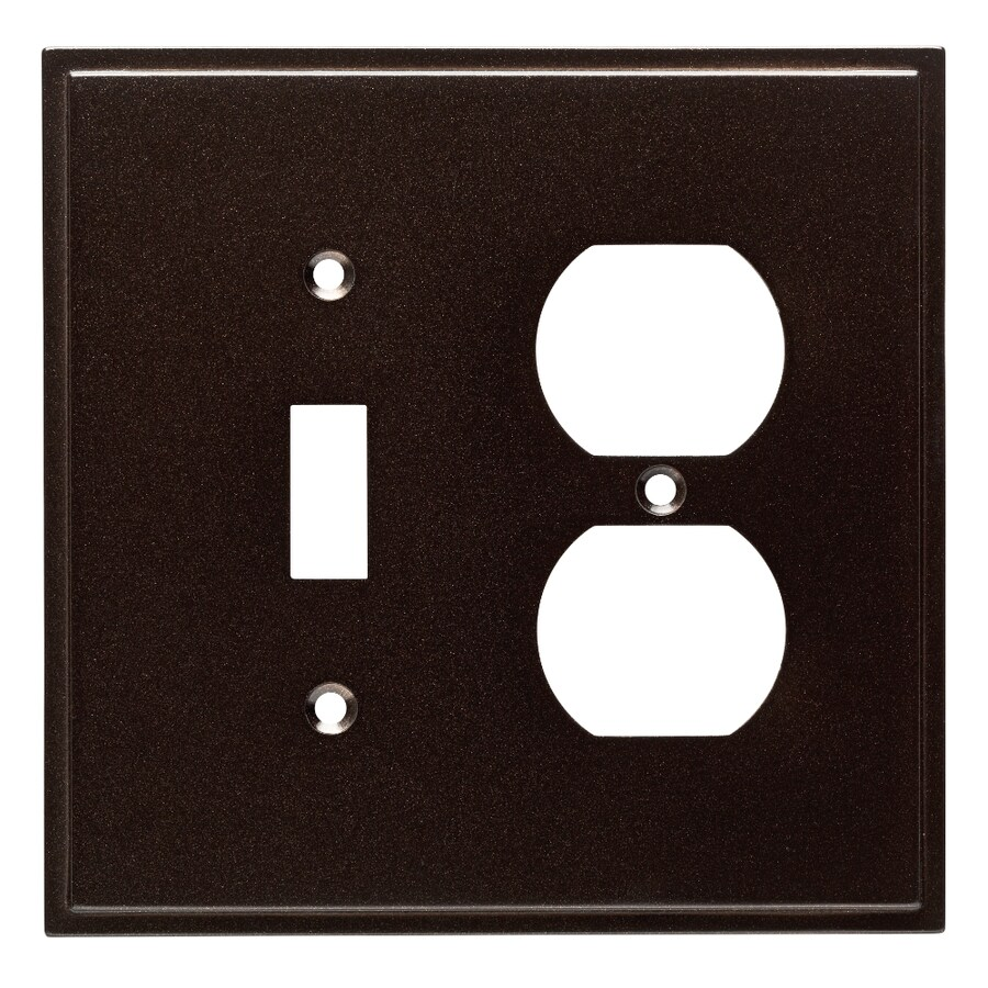Brainerd Simple Steps 2-Gang Cocoa Bronze Single Toggle/Duplex Wall Plate
