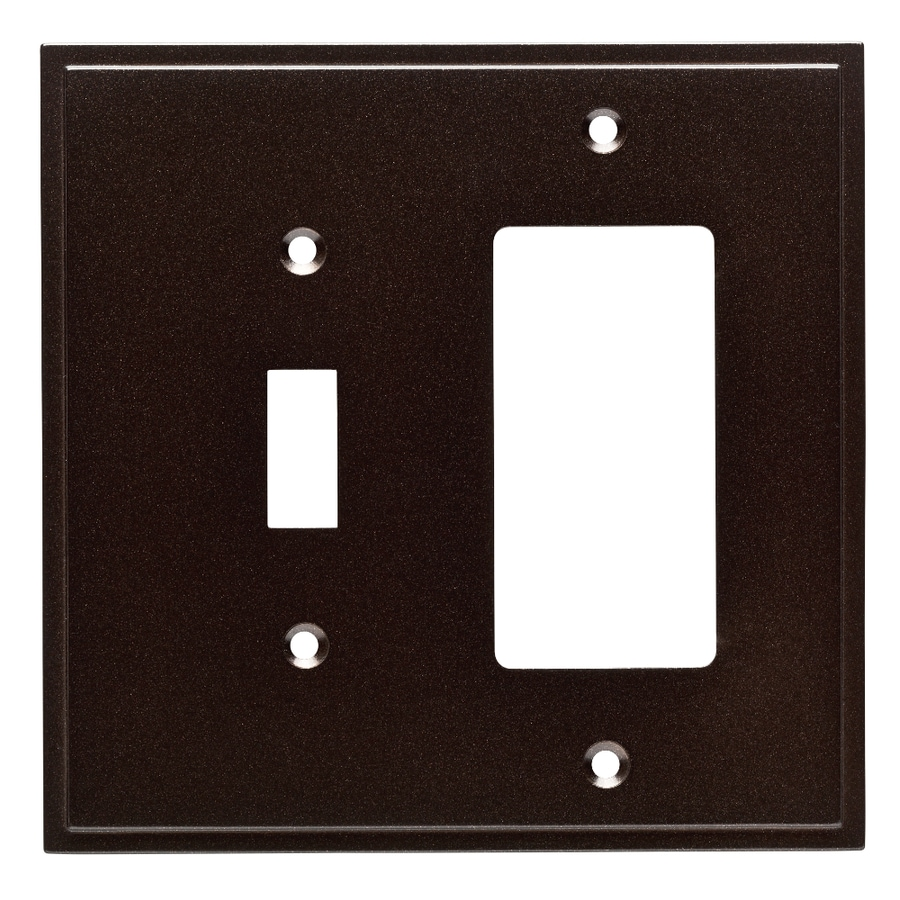 Brainerd Simple Steps 2-Gang Cocoa Bronze Single Toggle/Decorator Wall Plate