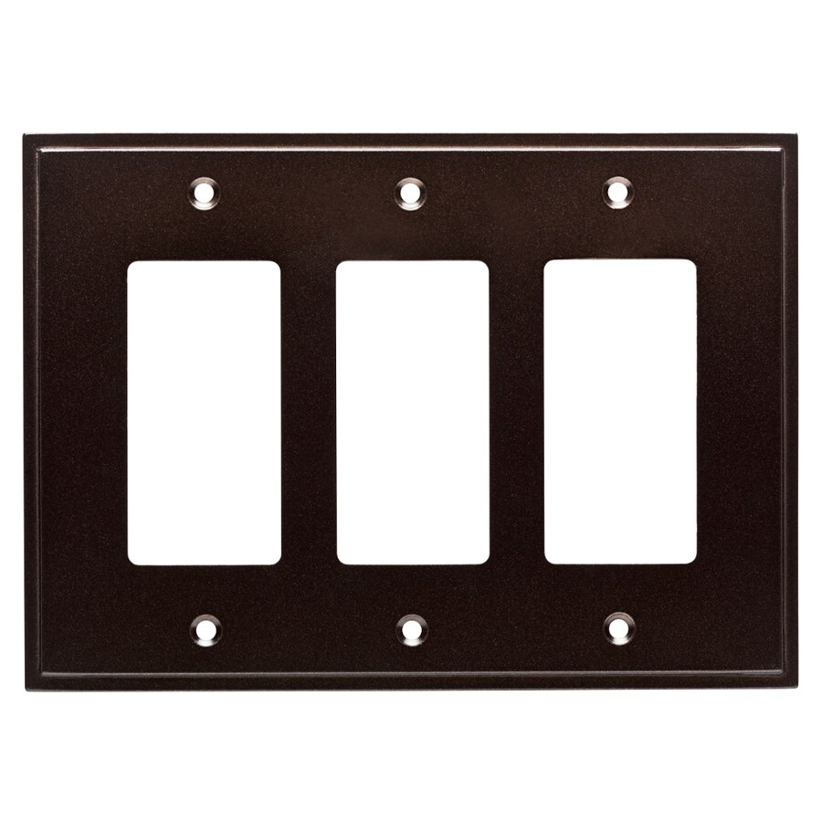 Brainerd Simple Steps 3-Gang Cocoa Bronze Triple Decorator Wall Plate