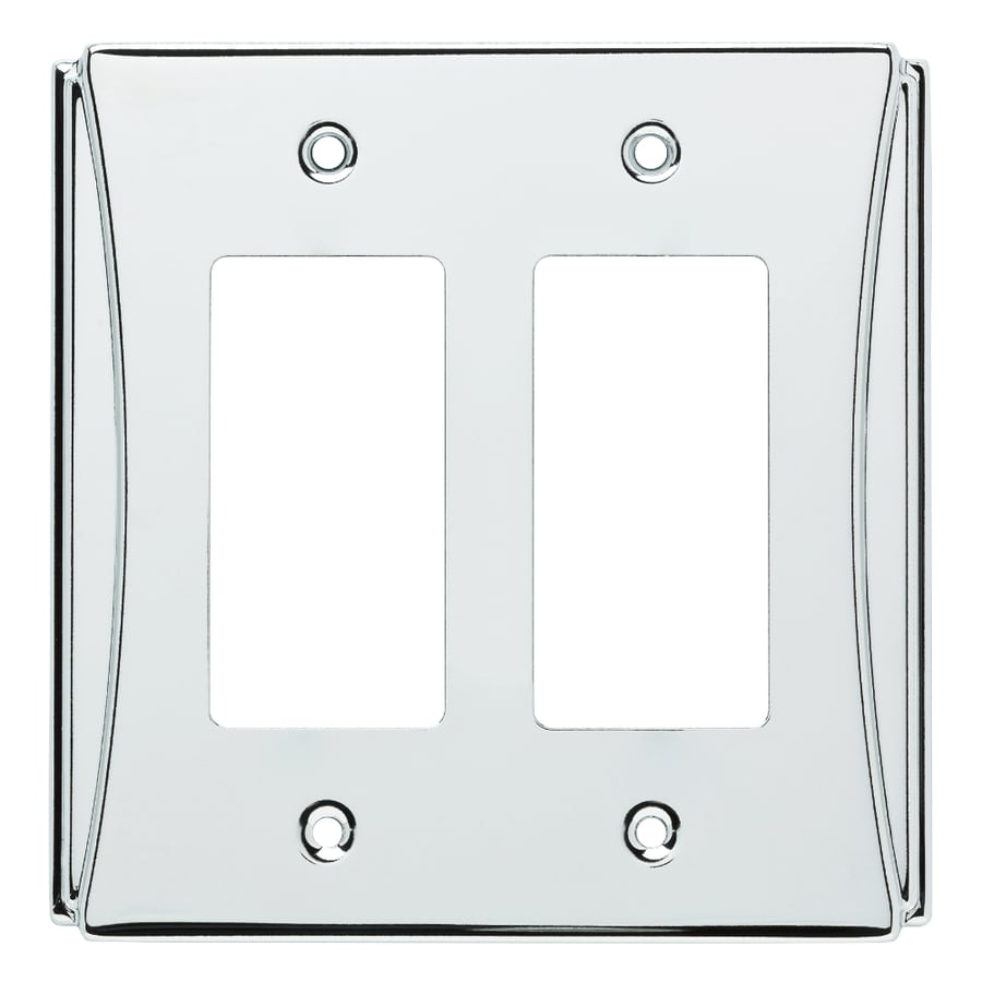 Brainerd Upton 2-Gang Polished Chrome Double Decorator Wall Plate
