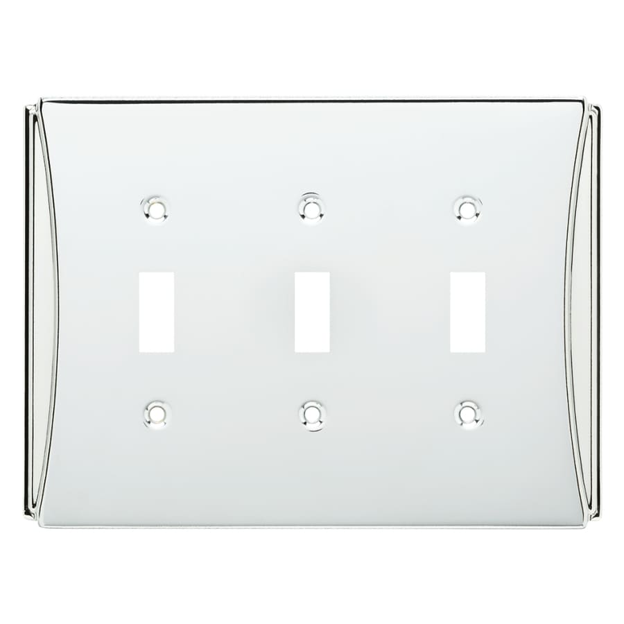 Brainerd Upton 3-Gang Polished Chrome Triple Toggle Wall Plate