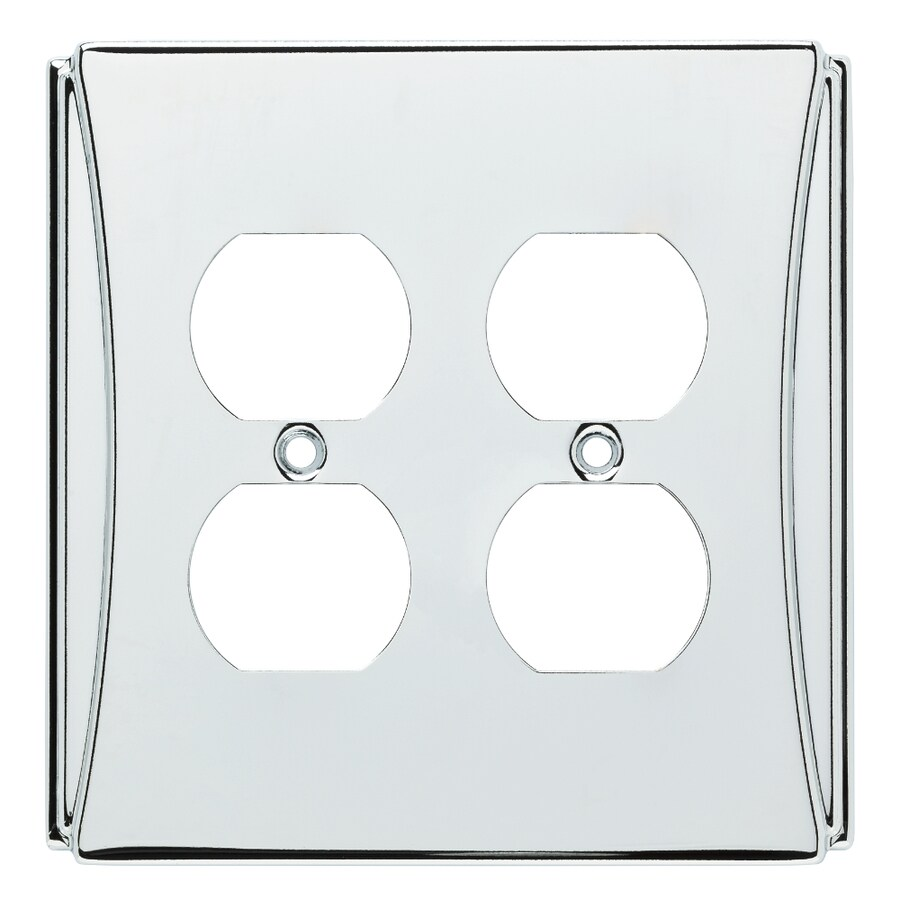Brainerd Upton 2-Gang Polished Chrome Double Duplex Wall Plate