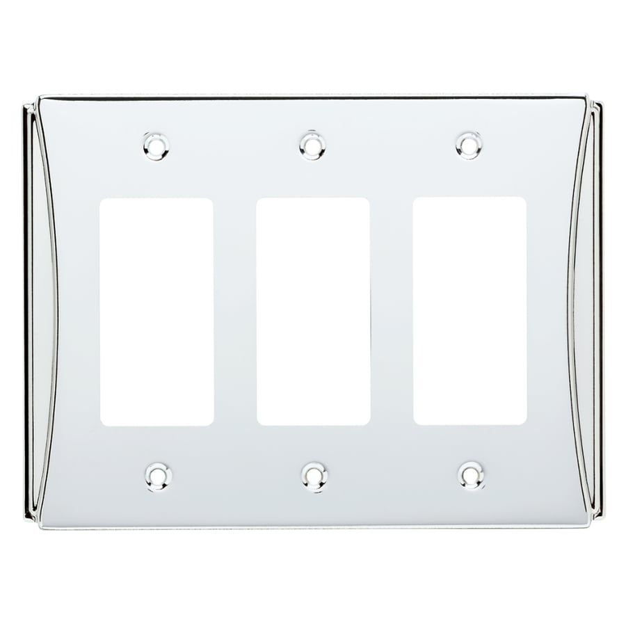 Brainerd Upton 3-Gang Polished Chrome Triple Decorator Wall Plate