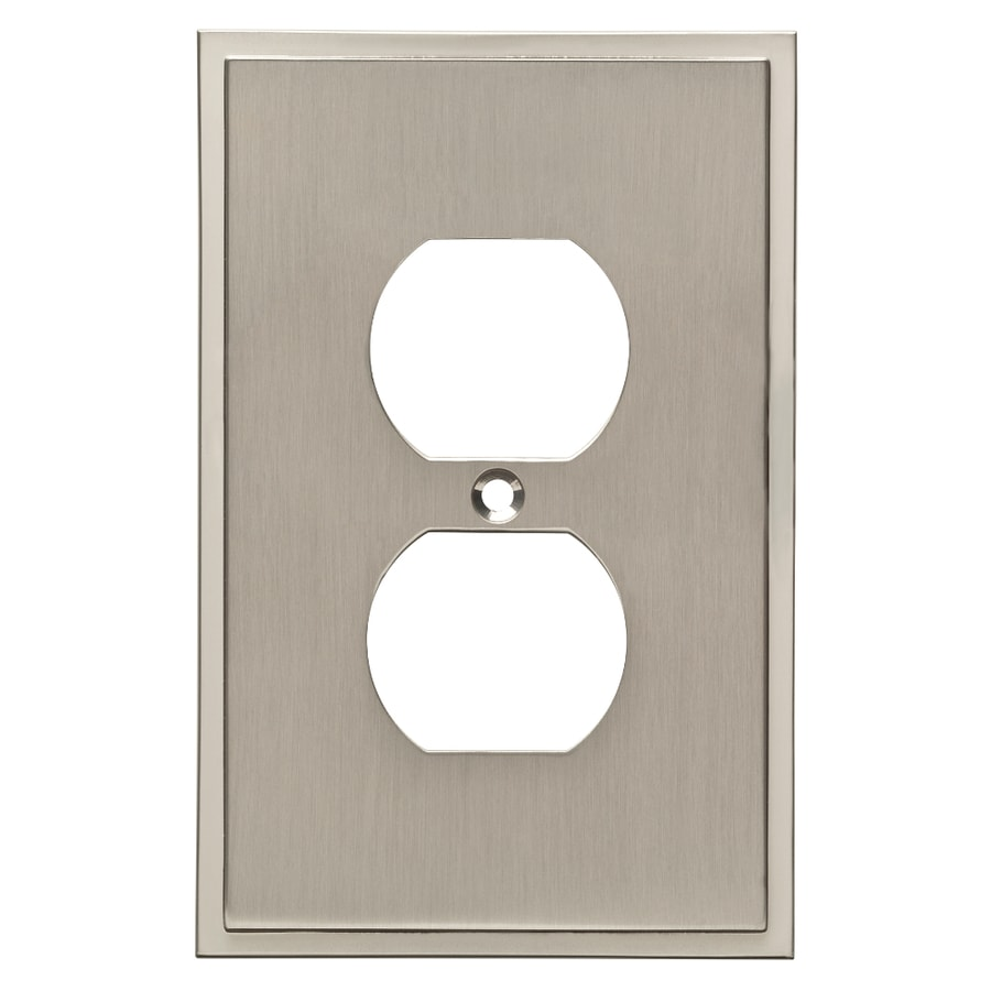 Brainerd Simple Steps 1-Gang Satin Nickel Single Duplex Wall Plate