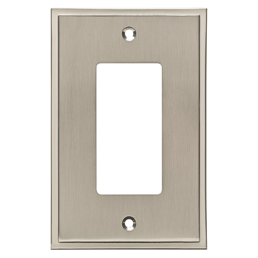 Brainerd Simple Steps 1-Gang Satin Nickel Single Decorator Wall Plate