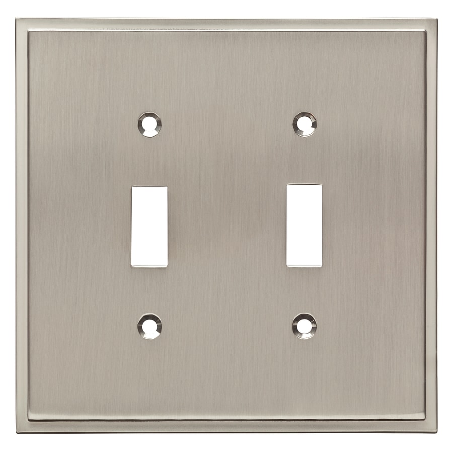 Brainerd Simple Steps 2-Gang Satin Nickel Double Toggle Wall Plate