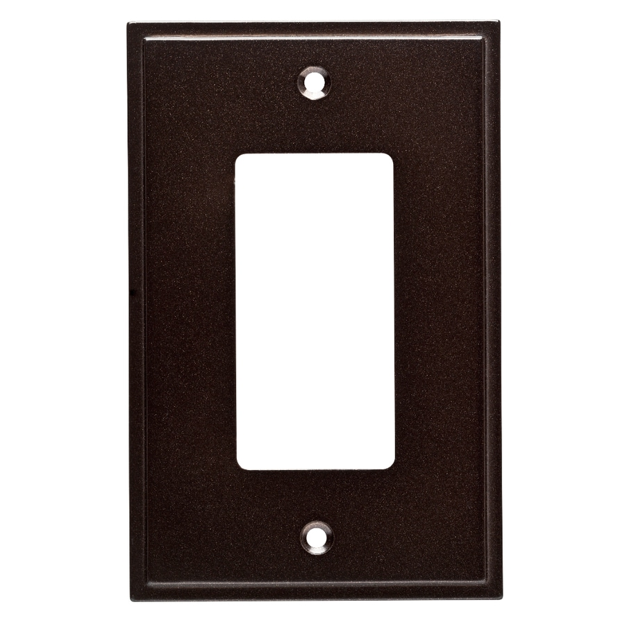 Brainerd Simple Steps 1-Gang Cocoa Bronze Single Decorator Wall Plate