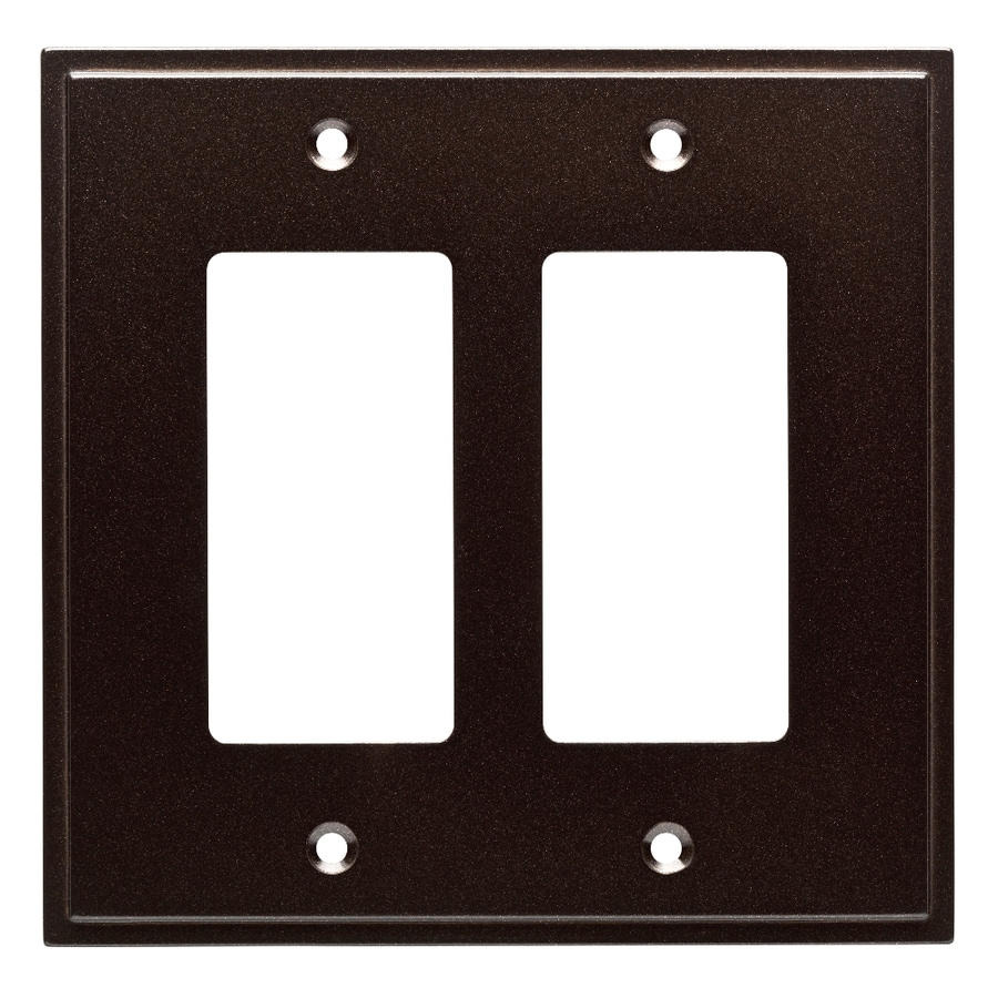 Brainerd Simple Steps 2-Gang Cocoa Bronze Double Decorator Wall Plate