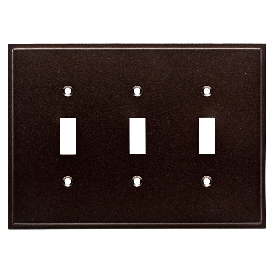 Brainerd Simple Steps 3-Gang Cocoa Bronze Triple Toggle Wall Plate